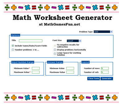 Math Worksheet Generator and Rainstorms