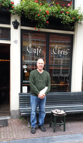 """Cafe Chris is a """"brown cafe"""" or pub open since 1624."""