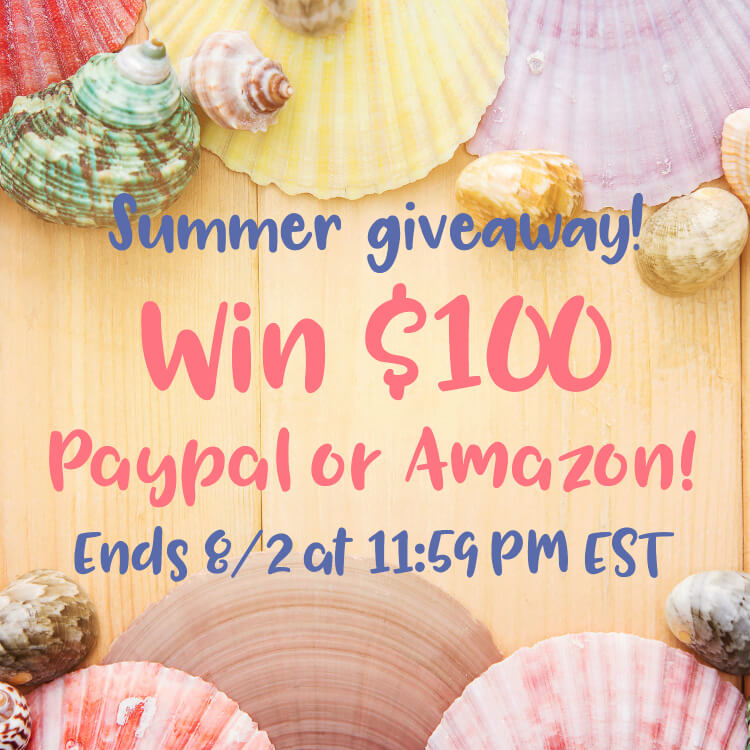 It's summertime, and this #giveaway is easy! #Win $100 in Amazon or PayPal cash. #GiveawayAlert